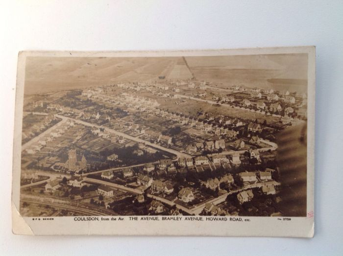 Coulsdon from air postcard