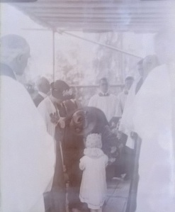 Laying of hall foundation stone 1936