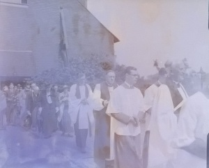 Clergy following (the originals of these are glass negatives kept at Woking History Centre)