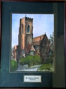 Painting donated by Monica Jefford and now kept in choir vestry