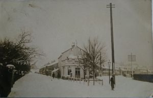 Coulsdon in snow Temperance Hotel